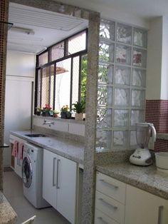 lavanderia, tijolo de vidro