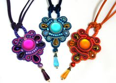 Soutache Pendants  1,2,3...