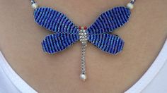 DIY BEADED DRAGONFLY PENDANT