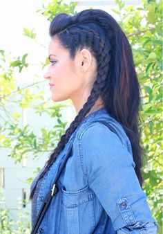 30 Crazy-Awesome Braided Hairstyles for Long Hair We Can't Get Over The Big, Badass Braid Guide via Byrdie Beauty For the viking in me! My Hairstyle, Pretty Hairstyles, Braided Hairstyles, Wedding Hairstyles, Medieval Hairstyles, Fairy Hairstyles, Concert Hairstyles, Crazy Hairstyles, Winter Hairstyles