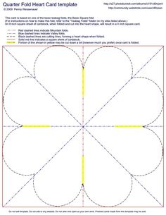 Card Templates Quarter Fold Heart Image By