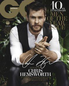 Galardonado como el hombre del año por la revista GQ Australia, el actor Chris Hemsworth protagoniza la portada de la edición de diciembre, capturado por el lente de Doug Inglish.
