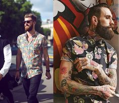 Tendências Masculinas - Camisa Estampada manga curta