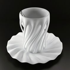 Oh my, this is lovely ~   Ballare (Italian for dance) is a series of ceramic drinking cups by designer Yury Dovganyuk