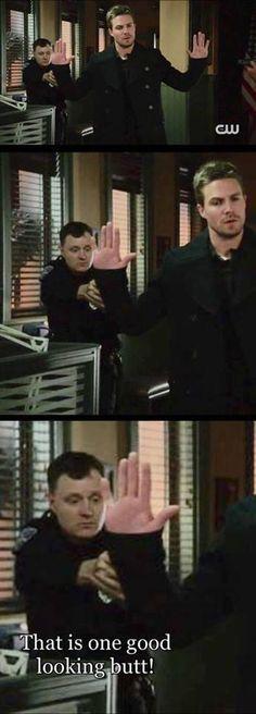 VERY GOOD Looking mr police man !! #Arrow #OliverQueen