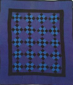 Nine-Patch Crib Quilt, 1930. Amish. Holmes Co, Ohio.