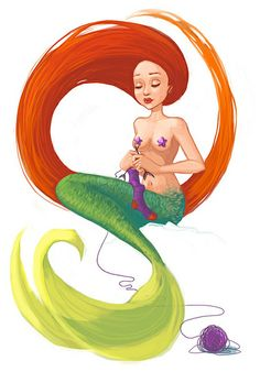 knitting mermaid | Flickr - Photo Sharing!