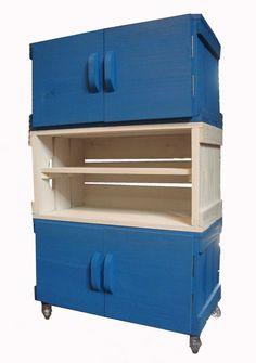 Estante 3 caixotes com duas portas