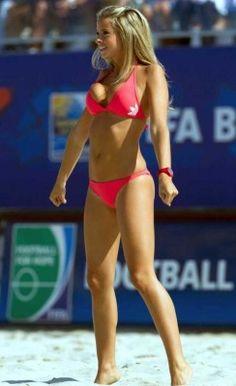 Sexy Italian Beach Soccer Babes  http://www.totalprosports.com