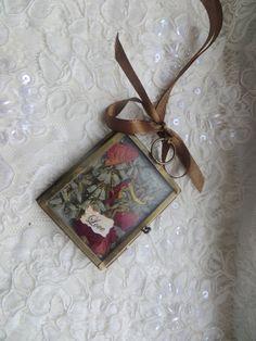 Love spell terrarium/shadow box tree ornament