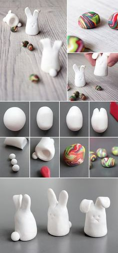 Do it yourself: Kreatives Osterspiel aus Fimo selbst basteln Easter game of polymer clay This image has get Clay Crafts For Kids, Easter Crafts, Diy For Kids, Diy And Crafts, Simple Crafts, Felt Crafts, Easter Ideas, Creative Crafts, Yarn Crafts