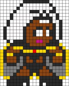 Storm Perler Bead Pattern | Bead Sprites | Characters Fuse Bead Patterns