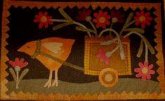 The Flower Cart - Wool Applique