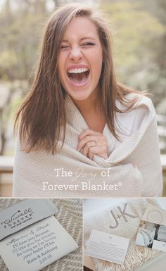 Forever Blanket by Swell Forever. Personalized Message Throws. American Made. Made in USA. Perfect and Best Wedding Gifts and Gifts for Mom, Bridesmaids, Showers, Graduation, and Birthdays. We support adoption and foster care with each purchase. www.swellforever.com