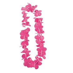 Hot Pink Flower Leis - OrientalTrading.com