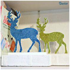 glitter-deer-DIY-bookends-Darice