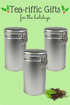 These latch lid tins will keep herbs, spice, and teas fresh and flavorful.  A useful gift for cooks and tea lovers.