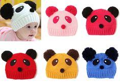 Boy Girl Newborn Kids Baby Panda Knit Crochet Hat Cap