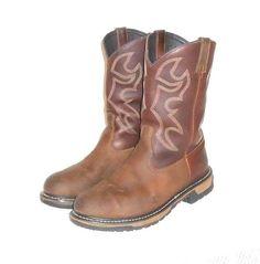 Men's Rocky Brown Leather Steel Toe Western Cowboy Work Boot  US  11 W #ROCKY #CowboyWestern