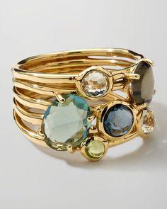 Gold Rock Candy Gelato Cluster Ring, Tartan by Ippolita at Bergdorf Goodman. Modern Jewelry, Jewelry Rings, Jewelery, Silver Jewelry, Jewelry Accessories, Fine Jewelry, Jewelry Design, Unique Jewelry, Sapphire Jewelry
