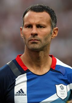 Ryan Giggs at the 2012 Olympics captaining Great Britain.