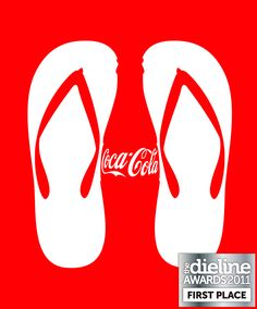 Great Coke packaging for summer, negative space <3