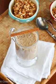 Healthy Coffee Banana Smoothie Recipe | www.cookincanuck.com #smoothie #coffee