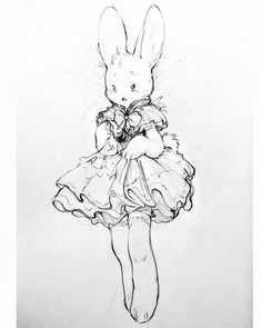 I love these so much omg 🐇🎀 (credit to rabbitfears) Cute Drawings, Animal Drawings, Illustrations, Illustration Art, Cute Art Styles, Art Reference Poses, Wow Art, Pretty Art, Character Design Inspiration