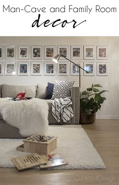 Basement man-cave decor idea with Sports Illustrated collection - Cuckoo4Design