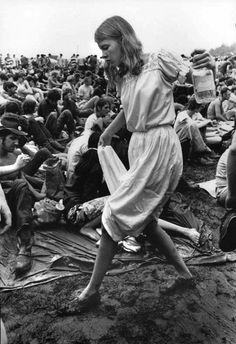 Por allá en Woodstock en los años sesenta.