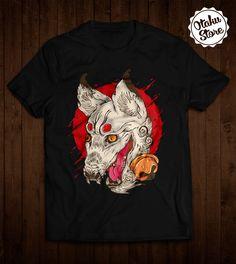 "Anime ""Wolf"" t-shirt. Anime DTG print."