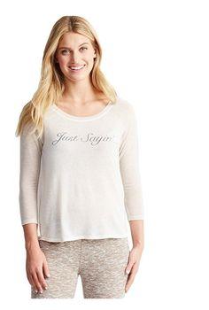 68d1af261695c Amazon.com  Aeropostale Womens Just Sayin  Pajama Sleep T-shirt 108 XS   Clothing