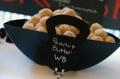 Peanut Butter Wall Balls! black flag crossfit party | Be Envied Entertaining