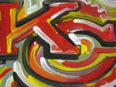 Kansas city Chiefs Painting by Justin Patten by stormstriker