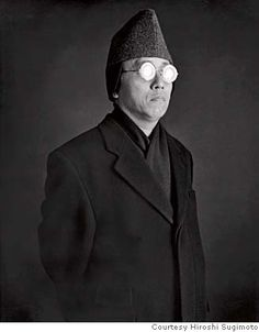 Hiroshi Sugimoto(1948-), photographer focused on events in time. (self portrait)