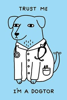 """""""Dogtor"""" by Obinsun Dog doctor. Trust me. I'm a dogtor. Laptop Stickers, Cute Stickers, Dog Doctor, Pet Shop Online, Funny Tee Shirts, Geek Shirts, Aesthetic Stickers, Iphone Case Covers, Horror Movies"""