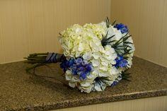 Blue wedding - bridesmaid bouquet