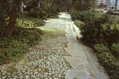 Jardins de l'Arche, calade, Gilles Clement