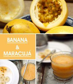 Achados da Bia   Receitas sucos   Banana com Maracujá - http://www.achadosdabia.com.br