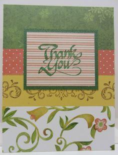 Scrap thank you card