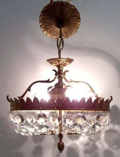 Oval+Brass+Crystal+Ceiling+Light+Small+Oval+Basket+Shaped