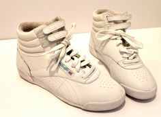 White Hi-Top Reebok Classic Size 4 @Robin Reese   oh yeah