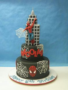 Spiderman Cake Decorations Uk : Spider man cake on Pinterest Spider Man Cakes, Spiderman ...