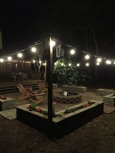 15 Awesome Deck Lighting Ideas to Lighten Up Your Deck Need ideas for lighting your outdoor deck? Learn the best ways to illuminate outside and get inspired by these list pretty garden deck lighting ideas. Diy Fire Pit, Fire Pit Backyard, Backyard Patio, Backyard Landscaping, Backyard Seating, Patio Fire Pits, Outdoor Fire Pits, Fire Pit Area, Backyard Lighting