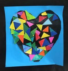 Artsonia Art Gallery - K - Mosaic Valentines Kindergarten Art Lessons, Paper Mosaic, Old Art, Art Portfolio, Art Forms, Art History, Art Gallery, Old Things, Vibrant