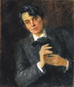 John Butler Yeats father of William Butler Yeats and painter Jack Butler Yeats. Portrait of William Butler Yeats, Oil on canvas. Jack B, Motion Images, William Butler Yeats, Art Photography Portrait, Family Images, Irish Art, Illustrations, Unique Art, Oil On Canvas