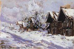 Konstantin Korovin (Russian 1861–1939) [Impressionism, Art Nouveau] Winter…