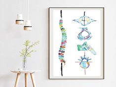 Spine and Vertebrae Abstract Anatomy Art Print – medpapers Chiropractic Office Decor, Therapy Office Decor, Medical Office Decor, Anatomy Art, Human Anatomy, Medical Art, Office Wall Art, Sign Printing, Physical Therapy