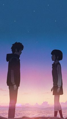 Your Name Anime Love Couple, Cute Anime Couples, Mitsuha And Taki, Kimi No Na Wa Wallpaper, Your Name Wallpaper, Manga Anime, Anime Art, Your Name Anime, Avatar Picture
