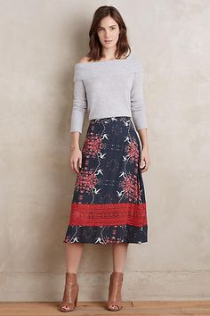 Hemalatha Midi Skirt - anthropologie.com